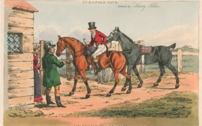 A painting of a turnpike in use c18th