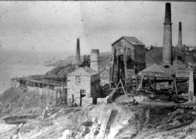 A typical mining scene, on the north cliffs of Penwith