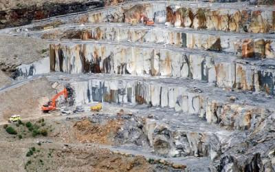 Delabole Quarry in the 1990's