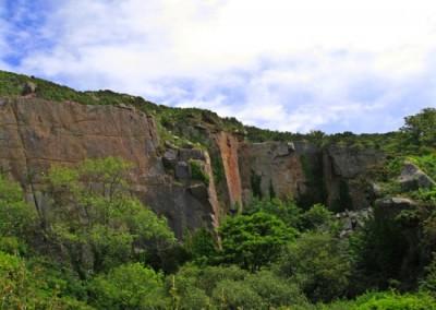 Abandoned granite quarry at Lamorna