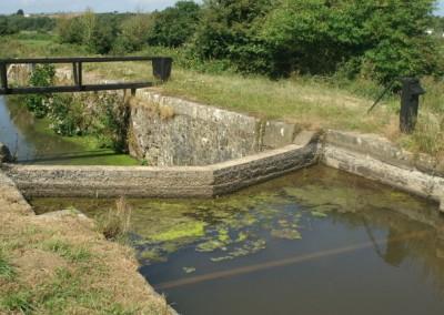 a former lock near Rodd's bridge on the Bude Canal