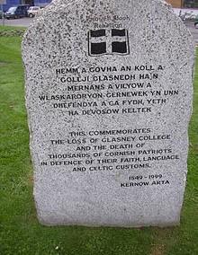 Memorial in Cornwall