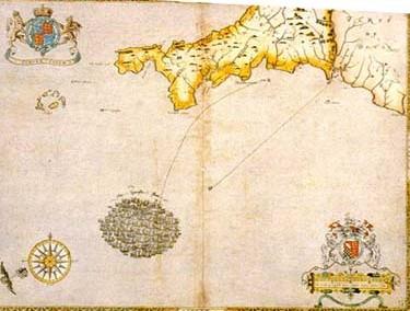 The Spanish fleet off the coast of Cornwall (29 July 1588)