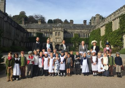 Perranporth School experience life in Victorian times at Lanhydrock