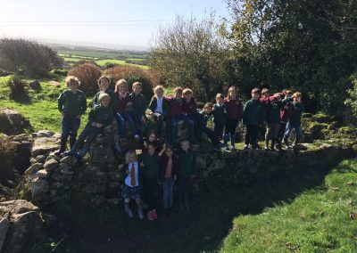 Lanlivery School take a trip to Carn Euny