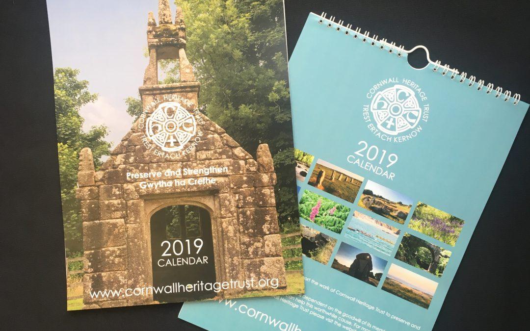 2019 Calendar from Cornwall Heritage Trust