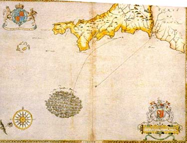 The Spanish fleet off the coast of Cornwall (29 July 1588)
