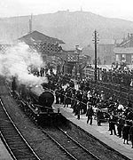 A famous scene at Redruth railway station
