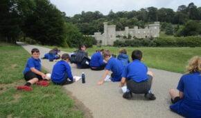 Gwinear School visit Caerhays Castle