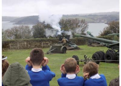 Indian Queens Primary School visit Pendennis Castle