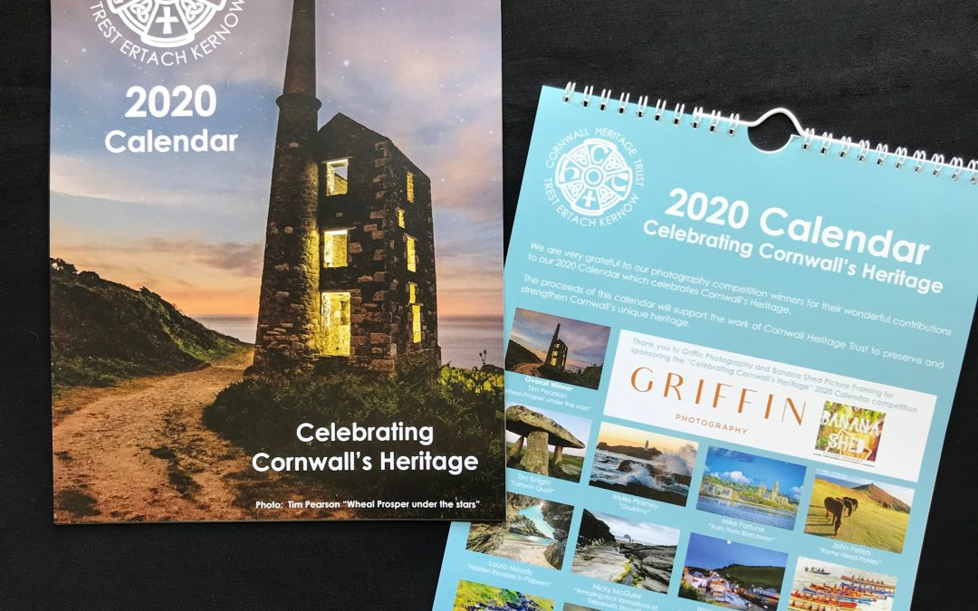 2020 Calendar – Celebrating Cornwall's Heritage – now on sale