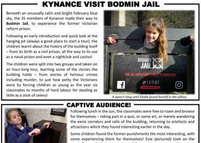 Kynance School visit Bodmin Jail