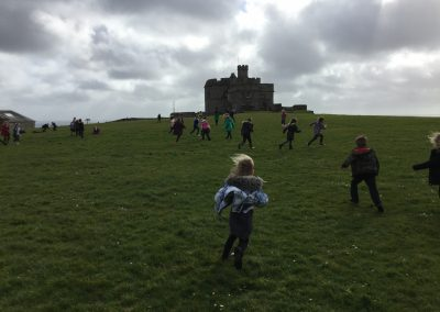 King Charles School Year Two visit Pendennis Castle