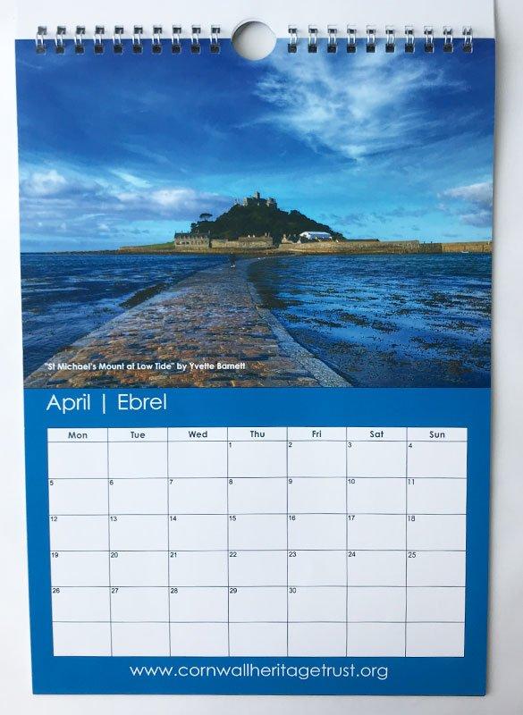 CHT Calendar 2021 April