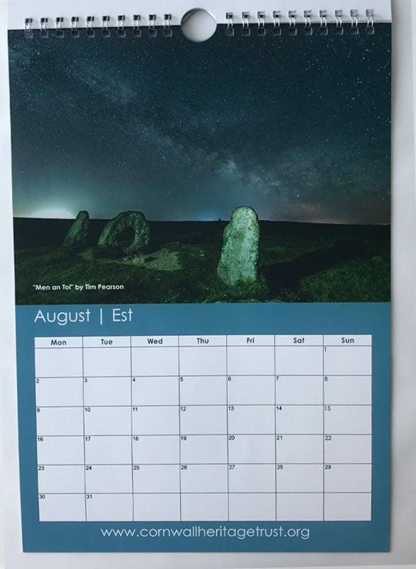 CHT Calendar 2021 August
