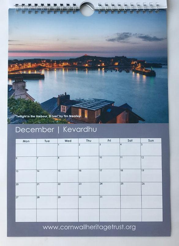 CHT Calendar 2021 December