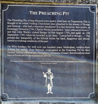 The Preaching Pit Tregonning Hill